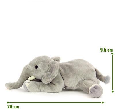 リアル動物ぬいぐるみ ねそべりシリーズ アフリカゾウ サイズ