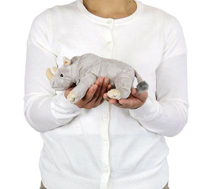 リアル動物ぬいぐるみ ねそべりシリーズ シロサイ 大きさ