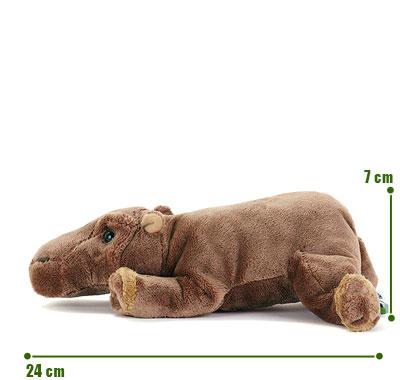 リアル動物ぬいぐるみ ねそべりシリーズ カバ サイズ