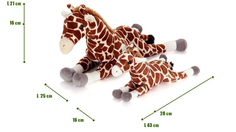 ねそべりシリーズ キリンぬいぐるみ 2サイズ 比較