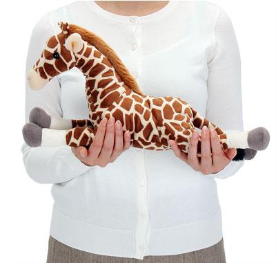 リアル動物ぬいぐるみ ねそべりシリーズ キリン Lサイズ 大きさ