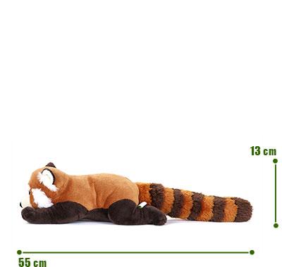 リアル動物ぬいぐるみ ねそべりシリーズ レッサーパンダ Lサイズ サイズ