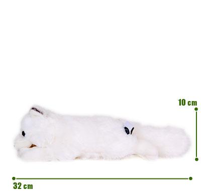 リアル動物ぬいぐるみ ねそべりシリーズ ホッキョクギツネ サイズ