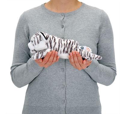 リアル動物ぬいぐるみ ねそべりシリーズ ホワイトタイガー 大きさ