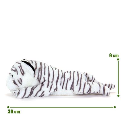 リアル動物ぬいぐるみ ねそべりシリーズ ホワイトタイガー サイズ