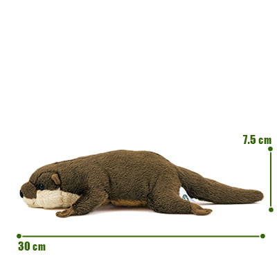 リアル動物ぬいぐるみ ねそべりシリーズ コツメカワウソ サイズ