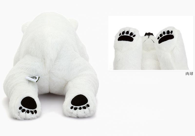 リアル動物ぬいぐるみ ねそべりシリーズ ホッキョクグマ Lサイズ ぬいぐるみ 特徴