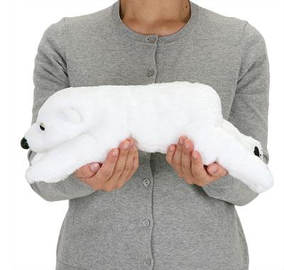 リアル動物ぬいぐるみ ねそべりシリーズ ホッキョクグマ Lサイズ 大きさ