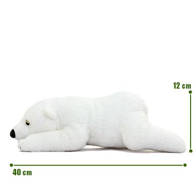 リアル動物ぬいぐるみ ねそべりシリーズ ホッキョクグマ L サイズ