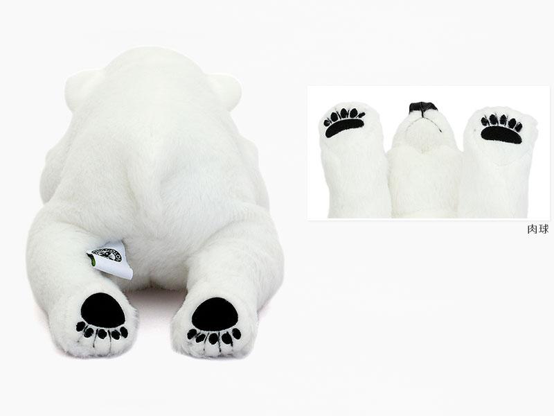 リアル動物ぬいぐるみ ねそべりシリーズ ホッキョクグマ ぬいぐるみ 特徴