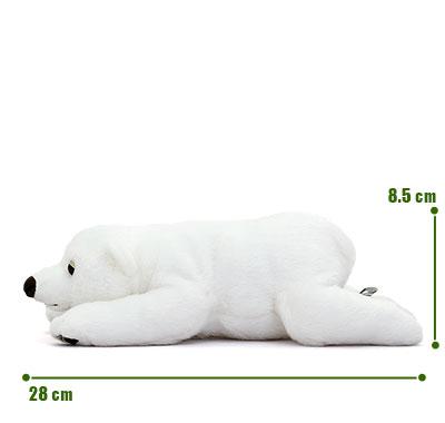 リアル動物ぬいぐるみ ねそべりシリーズ ホッキョクグマ サイズ