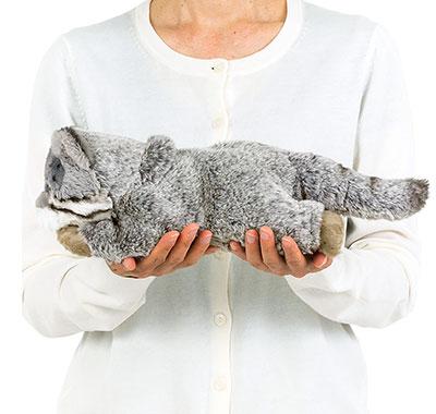リアル動物ぬいぐるみ ねそべりシリーズ マヌルネコ 大きさ