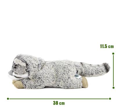 リアル動物ぬいぐるみ ねそべりシリーズ マヌルネコ サイズ