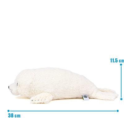 リアル動物ぬいぐるみ ねそべりシリーズ ゴマフアザラシ L サイズ