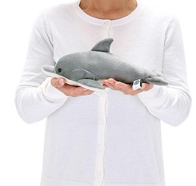 リアル動物ぬいぐるみ ねそべりシリーズ ハンドウイルカ 大きさ