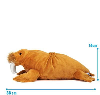 リアル動物ぬいぐるみ ねそべりシリーズ セイウチ L サイズ