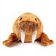 リアル 動物 生物 ぬいぐるみ ねそべりシリーズ セイウチ 正面