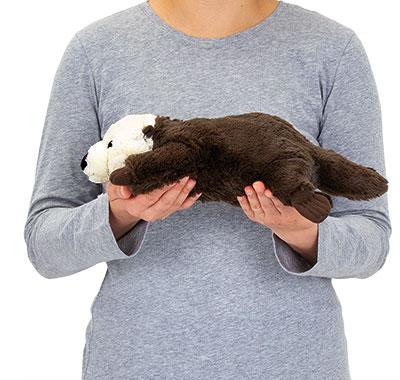 リアル動物ぬいぐるみ ねそべりシリーズ ラッコ Lサイズ 大きさ