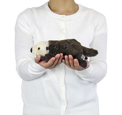 リアル動物ぬいぐるみ ねそべりシリーズ ラッコ 大きさ
