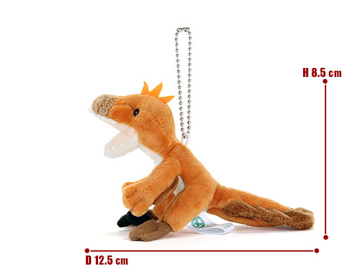 恐竜・古代生物 ぬいぐるみマスコット ヴェロキラプトル サイズ