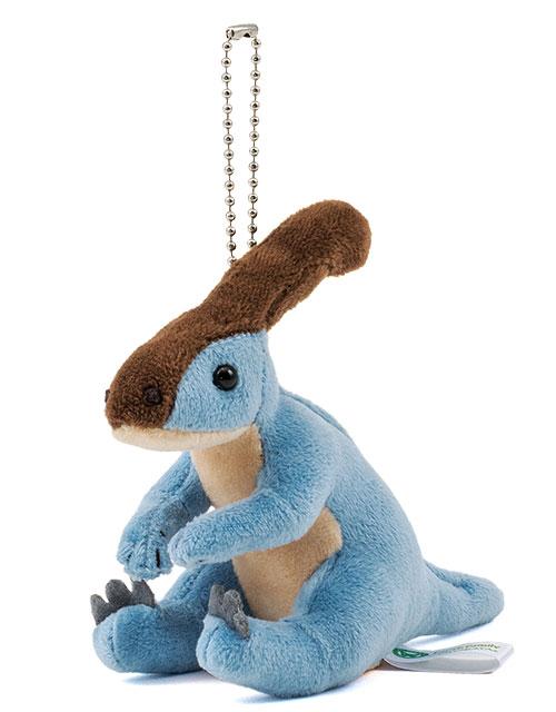 恐竜・古代生物 ぬいぐるみマスコット パラサウロロフス 斜め