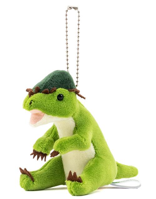 恐竜・古代生物 ぬいぐるみマスコット パキケファロサウルス 斜め