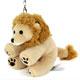 リアル動物ぬいぐるみ マスコット おすわり ライオン 斜め