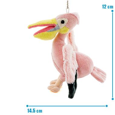 リアル 鳥類 マスコット モモイロペリカン サイズ
