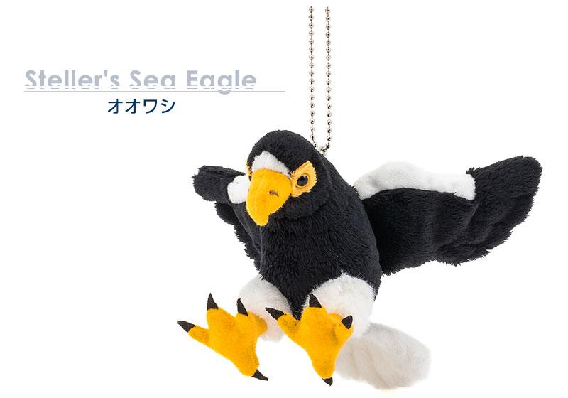 リアル 鳥類 マスコット オオワシ 大きめサイズ ぬいぐるみ