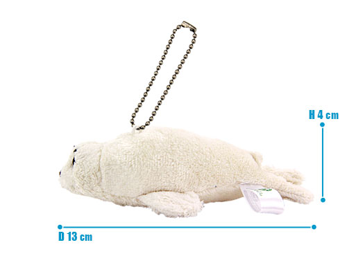 海の生物 ぬいぐるみマスコット ゴマフアザラシ サイズ