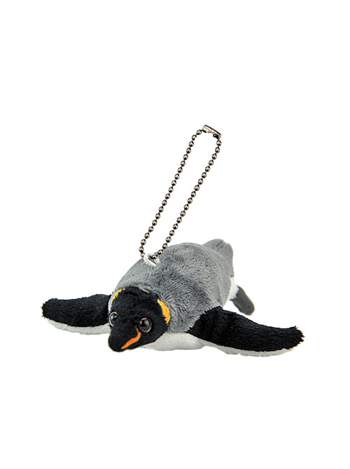 海の生物 ぬいぐるみマスコット キングペンギン 斜め