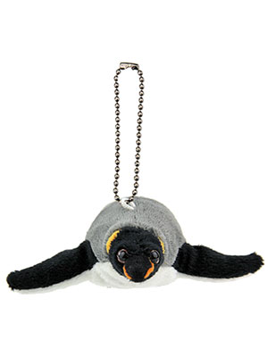海の生物 ぬいぐるみマスコット キングペンギン 正面