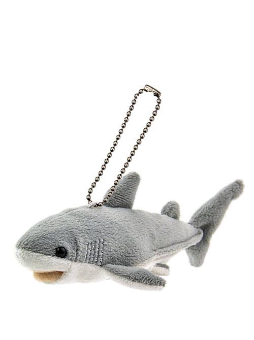 海の生物 ぬいぐるみマスコット ホホジロザメ 斜め