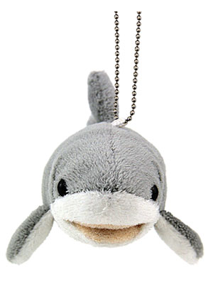 海の生物 ぬいぐるみマスコット ホホジロザメ 正面