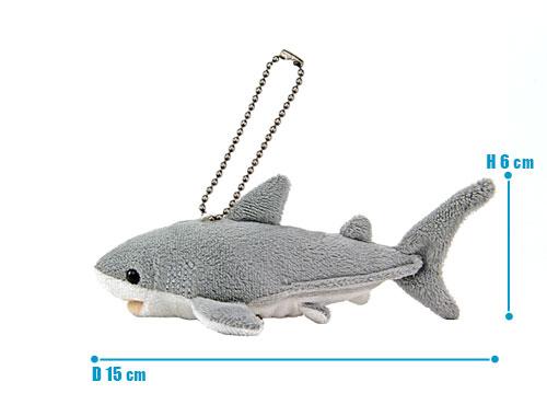 海の生物 ぬいぐるみマスコット ホホジロザメ サイズ
