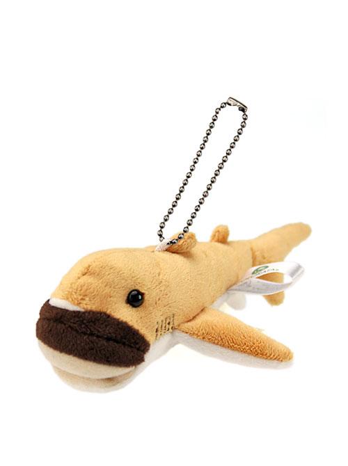 海の生物 ぬいぐるみマスコット メガマウスザメ 斜め