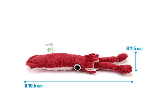 海の生物 ぬいぐるみマスコット ダイオウイカ サイズ