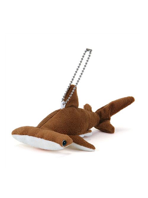 海の生物 ぬいぐるみマスコット アカシュモクザメ 斜め