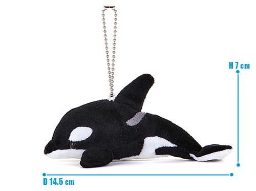 海の生物 ぬいぐるみマスコット シャチ サイズ