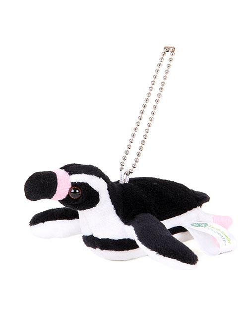 海の生物 ぬいぐるみマスコット フンボルトペンギン 斜め