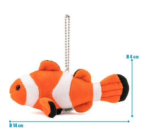 海の生物 ぬいぐるみマスコット カクレクマノミ サイズ
