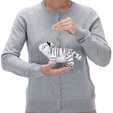 リアル野生動物 マスコット ホワイトタイガー 大きさ