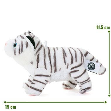 リアル野生動物 マスコット ホワイトタイガー サイズ