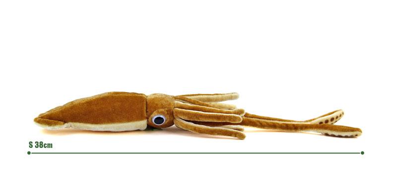 リアル 動物 生物 ぬいぐるみ ダイオウイカ Sサイズ サイズ