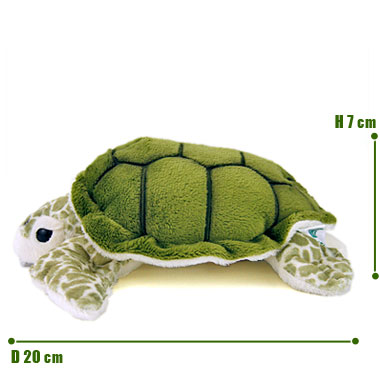 リアル 動物 生物 ぬいぐるみ アオウミガメ S サイズ