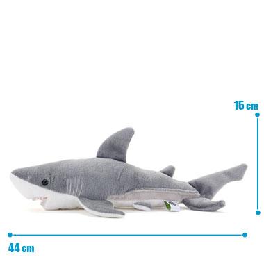 リアル動物ぬいぐるみ ねそべりシリーズ ホホジロザメ M サイズ