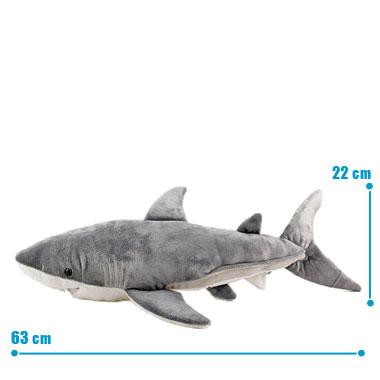 リアル動物ぬいぐるみ ねそべりシリーズ ホホジロザメ L サイズ