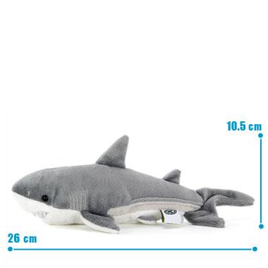 リアル動物ぬいぐるみ ねそべりシリーズ ホホジロザメ S サイズ