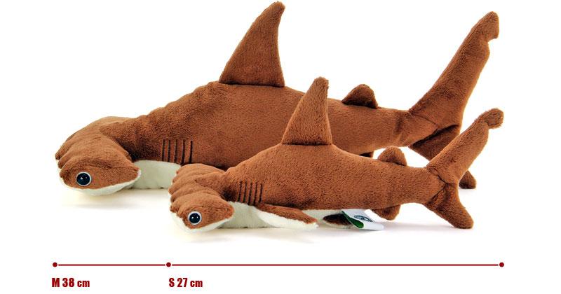 リアル動物 生物ぬいぐるみ アカシュモクザメ MSサイズ比較