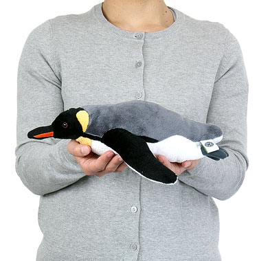 リアル 動物 生物 ぬいぐるみ キングペンギン 親 スイミング 大きさ